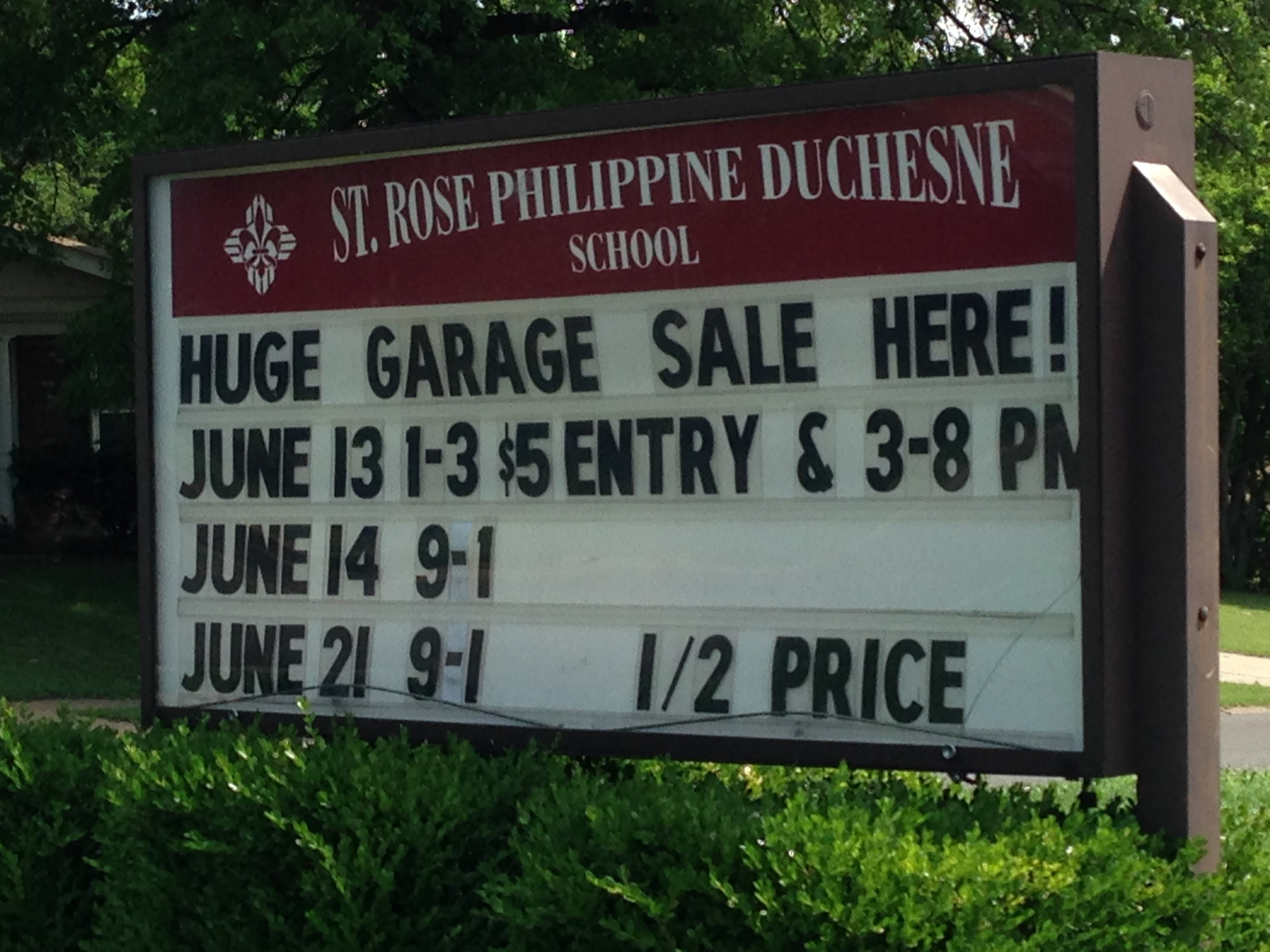 Huge Garage Sale at St. Rose - June 13 & 14