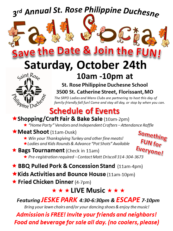 St. Rose Fall Social October 24, 2015